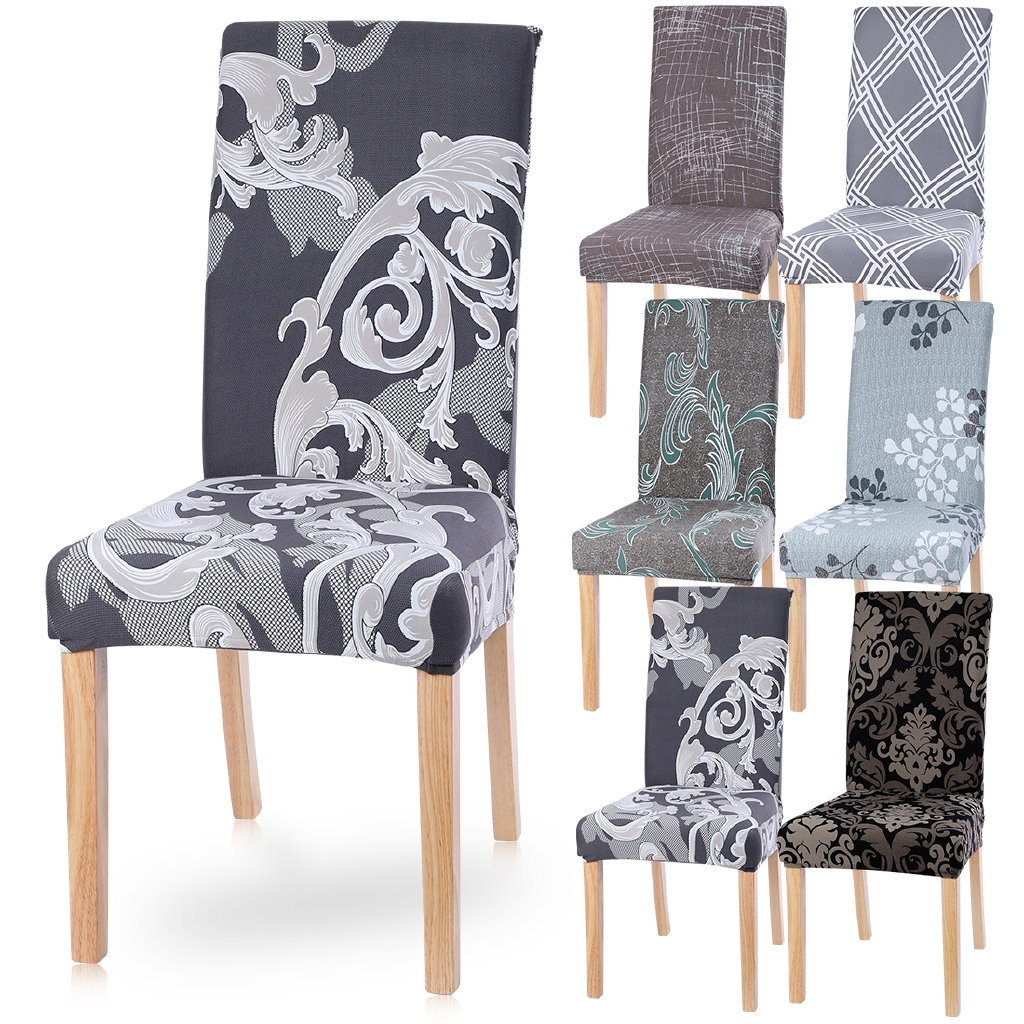 ANTI-SLIP ELASTIC CHAIR COVER PROTECTOR KITCHEN DINING ROOM SEAT DECORATION