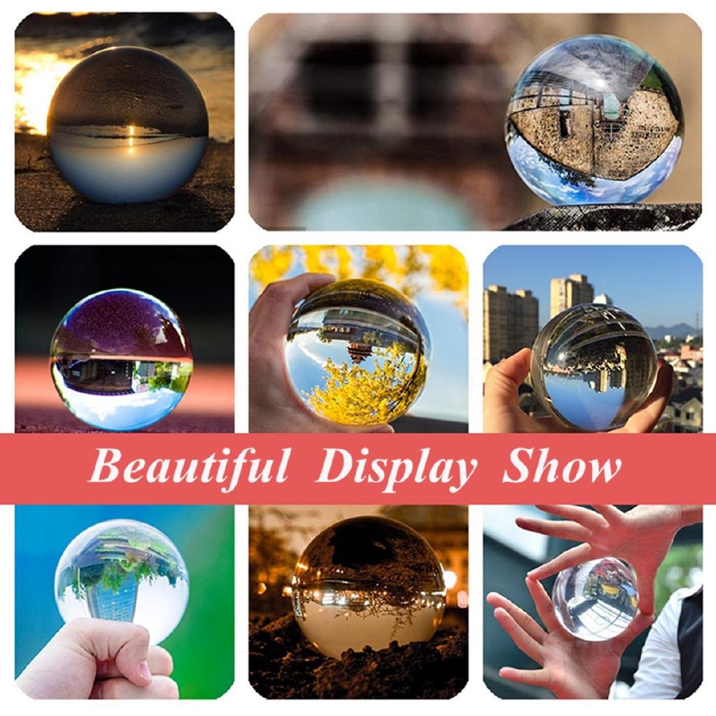 Home Decor 30-60mm Clear Crystal Ball Natural Magic Beads Healing Sphere Globe Quartz Photography Balls Crystal Craft Decor