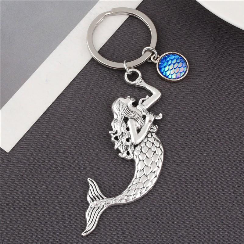 Mermaid Tail Nautical Mermaid Gifts Mermaid Scales 5pcs//set Mermaid Keyring