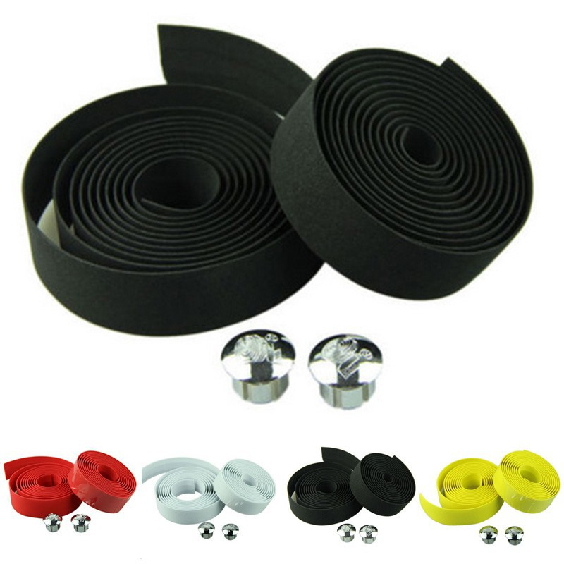 4 Colors Anti Skid Cycling Handle Belt Road Bicycle Handlebar Tape Wrap Bar Plug