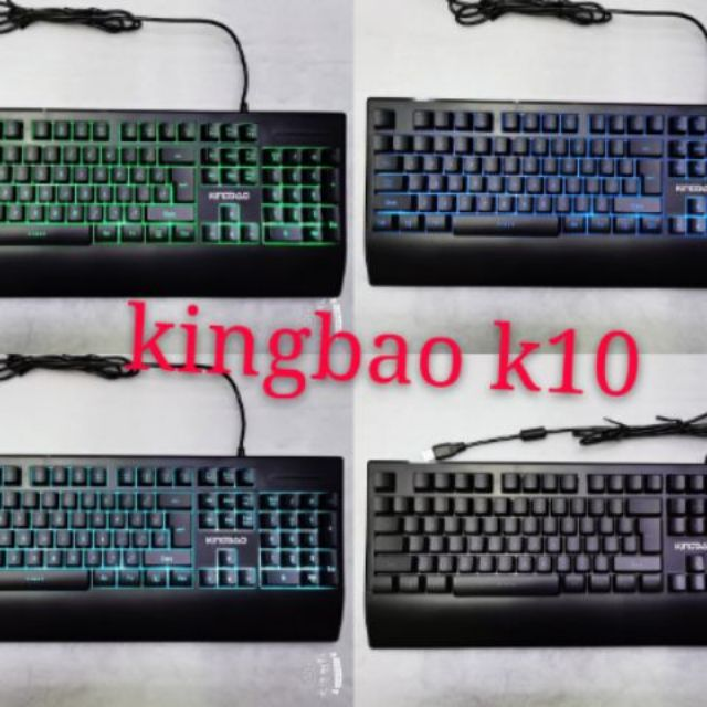 [104 Keys] Kingbao Illuminated Gaming Keyboard k10