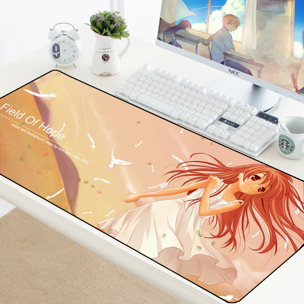 Cute Anime Girl Print Large Gaming Mouse Pad