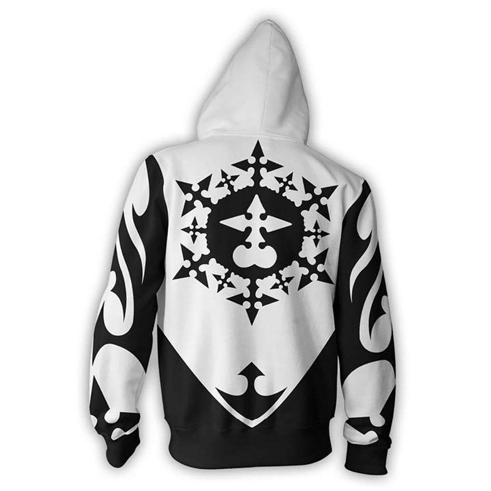 Anime Kingdom Hearts Xemnas Cosplay Costumes Zipper Hoodies Sweatshirts