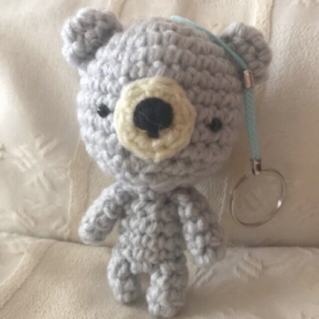 Amazon.com: Little crochet puppy Amigurumi dog keychain Mini toy ... | 640x640