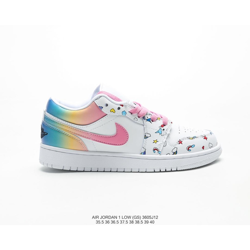 uk store lowest discount limited guantity Nike AIR JORDAN 1 LOW AJ1 GS GIRL RAINBOW UNICORN SIZE 35.5-40 ...