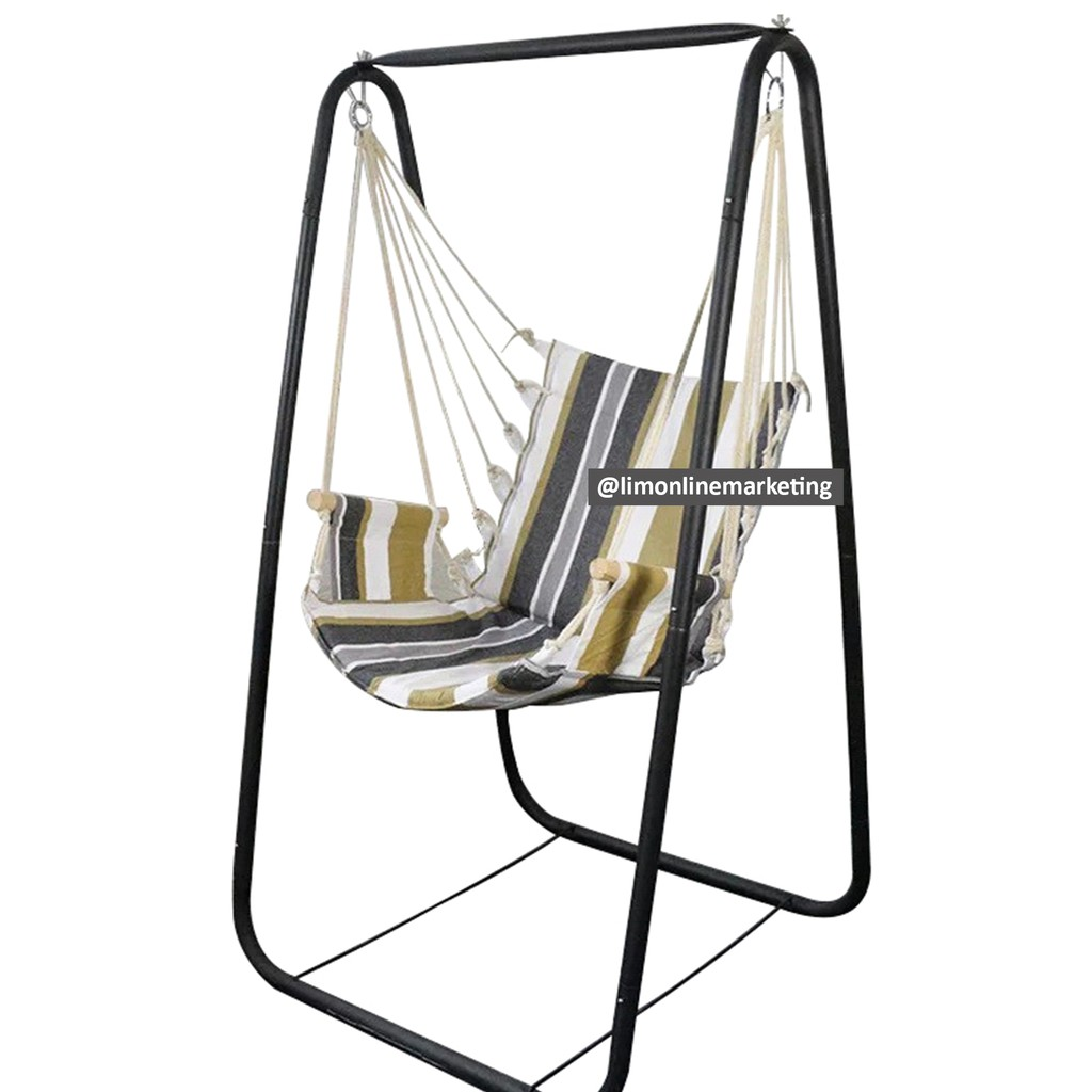 Duyan Hanging Swing Chair With Metal Stand For Outdoor