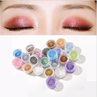 Green Blue Objective Glitter Shimmer Pearl Loose Eyeshadow Powder Bright White Black Makeup Tool Gold Purple