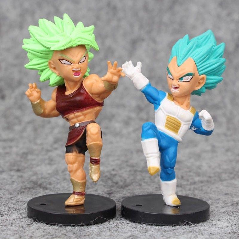 16Pcs//Set Dragon Ball Series Super Saiyan Torankusu Son Goku PVC Figure Toy Gift