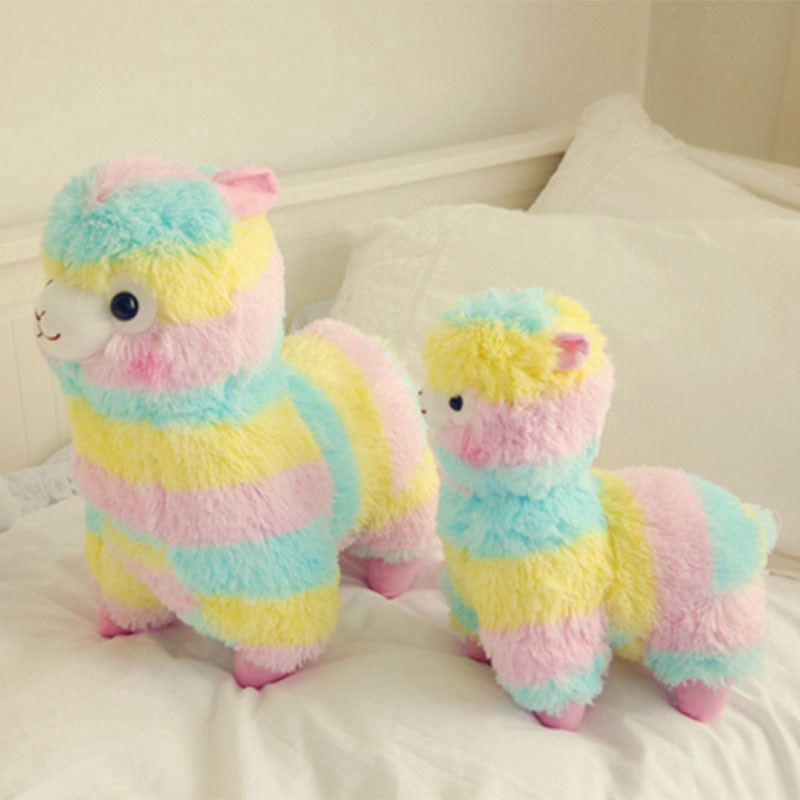 Cute Rainbow Alpacasso Llama Arpakasso Soft Plush Toy Doll Kids Gift Xmas Decor