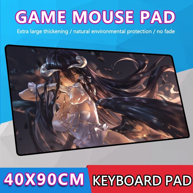 Overlord Albedo Mouse Pad Mat Anime Thicken Playmat Mousepad Gaming Keyboard Mat