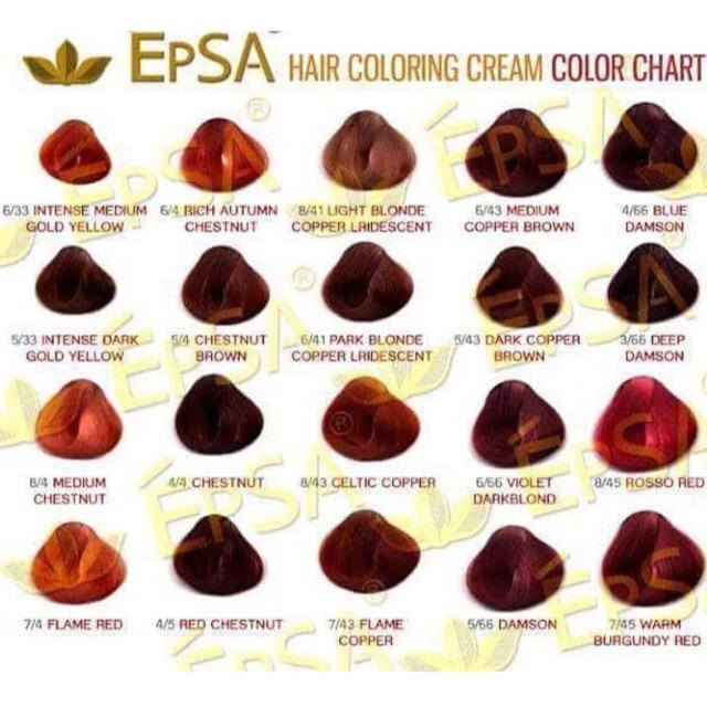EPSA hair color + oxidizing cream | Shopee Philippines