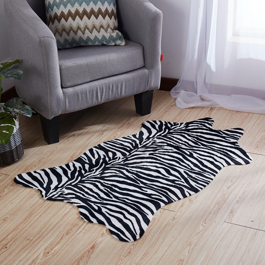 3~4 Person sofa Slipcover Zebra mat Carpet rug cover mat Long Kitchen rug Mat