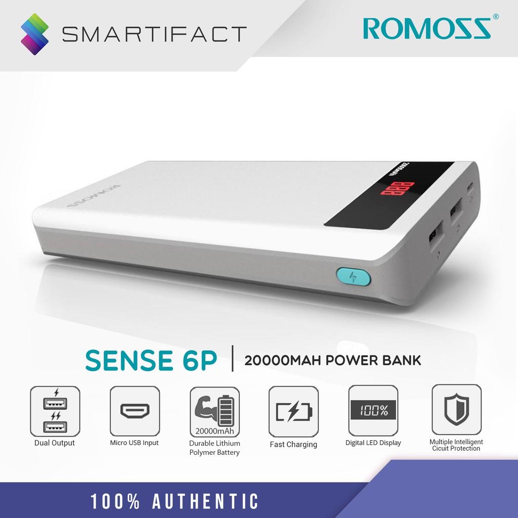 Romoss Sense 6P 20000mAh Power Bank PH80-468-02