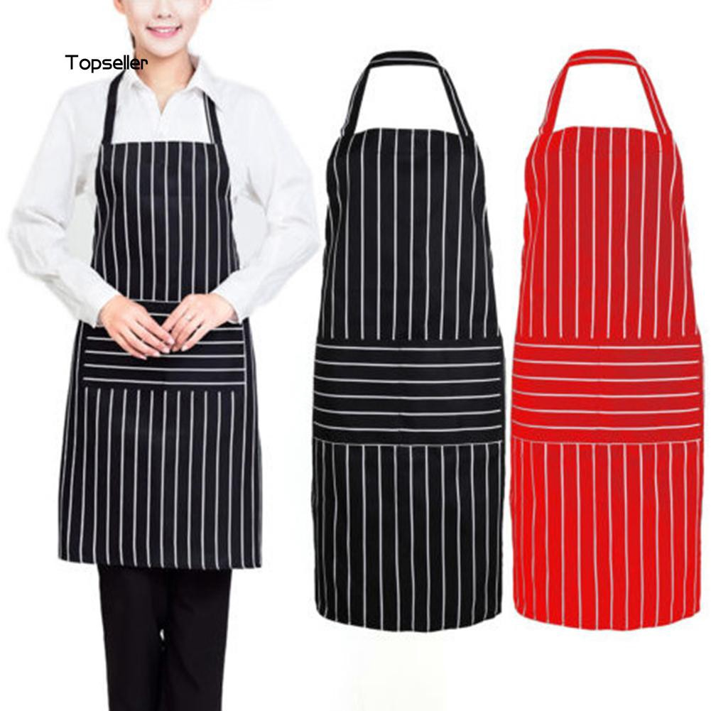 d9c03ab75 ProductImage. ProductImage. TOPS1_Fashion Women Men Adjustable Stripes Apron  Kitchen Bib with Big Front Pocket