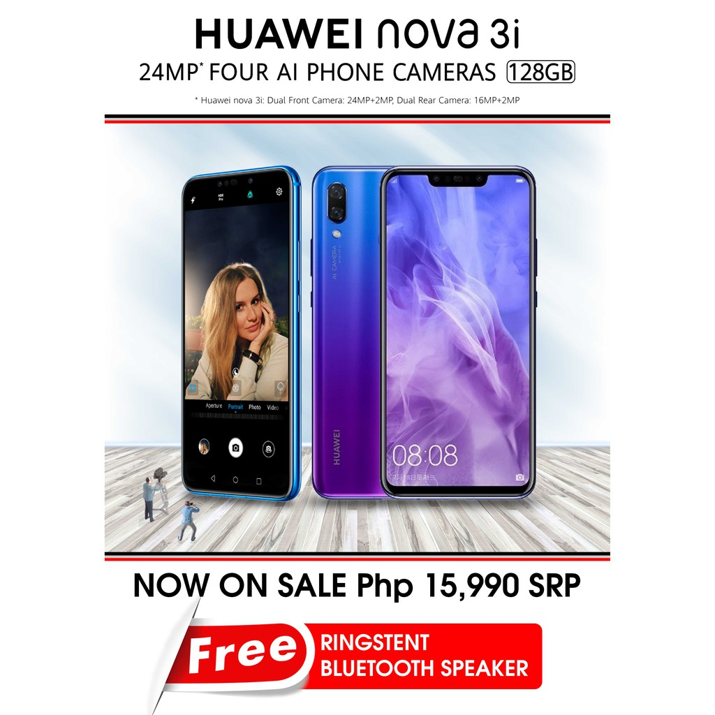 HUAWEI nova 3i with free Ringstent and BT-Speaker