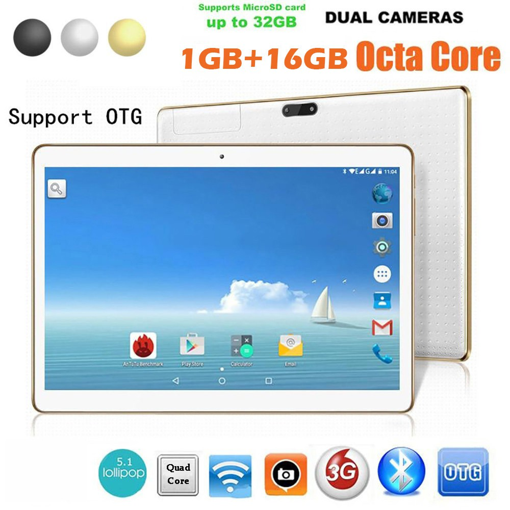 * * 10 1Inch 1+16G Android4 4 2Camera Phone Wifi Tablet EU