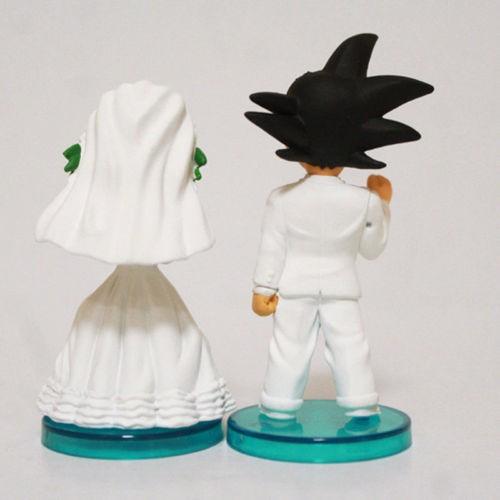 Anime Dragon Ball Z Son Goku ChiChi PVC Figure Toys Wedding Cake Topper Dolls