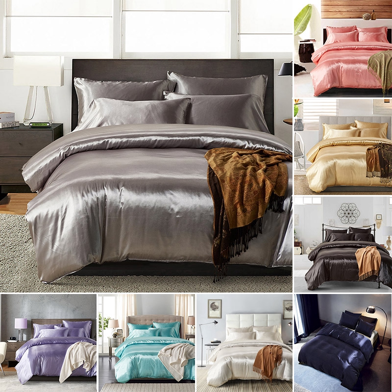 Silk Colorful Duvet Cover Luxurious, Black And Gold Silk Bedding