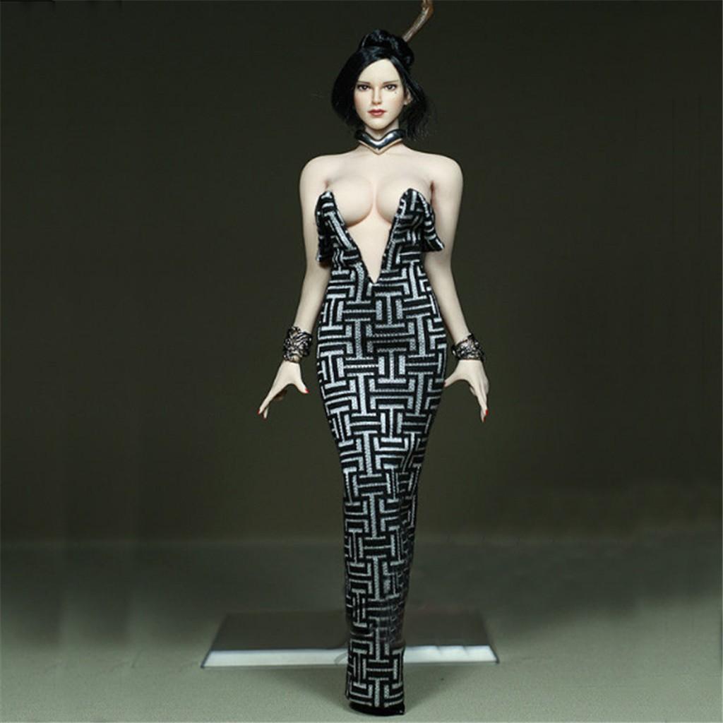 "1//6th Custom Black elasticity Pants Model For 12/"" PH hotstuf UD Female Body Doll"