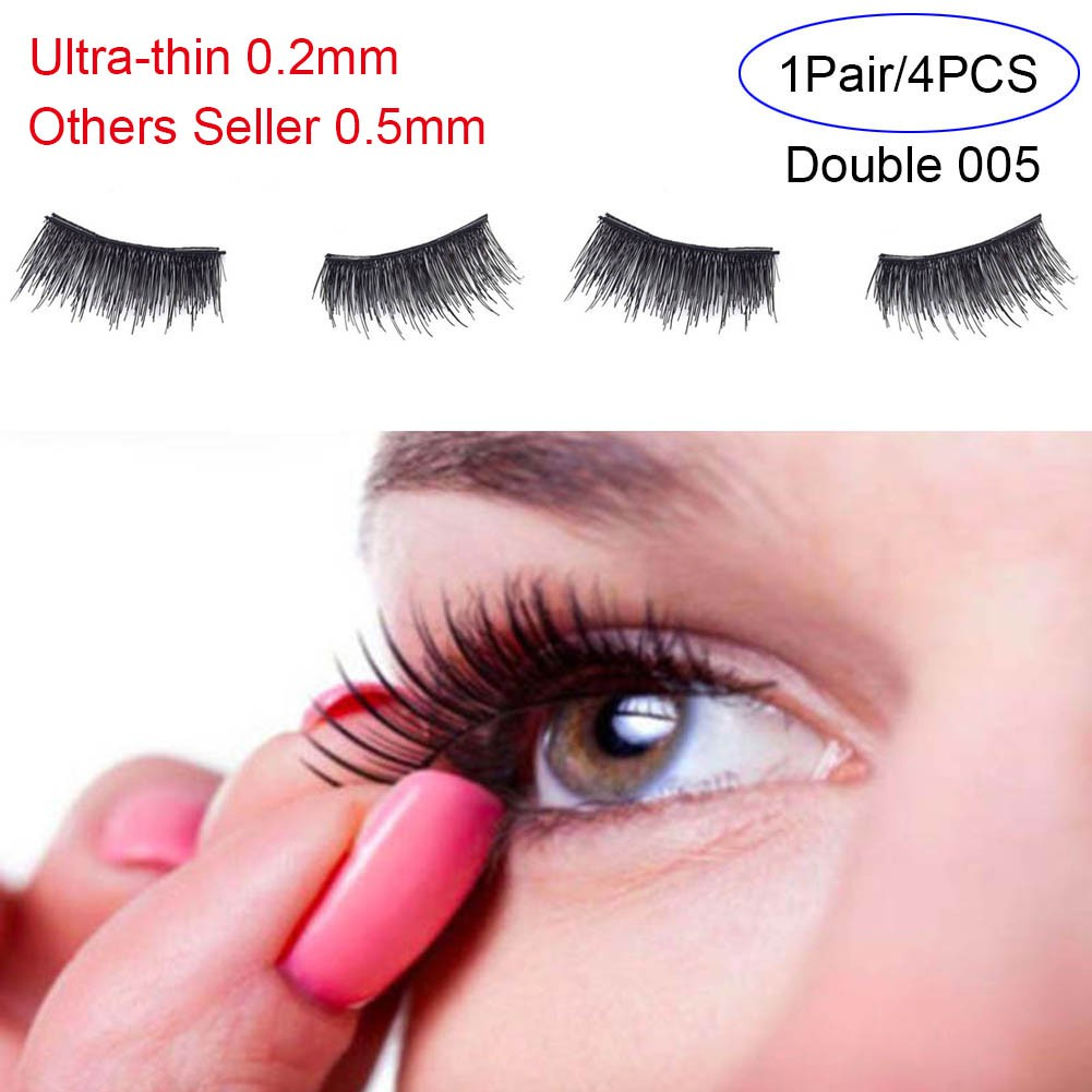 6d4a584d71a ProductImage. 4Pcs/Pair 0.2mm Magnetic False Fake Soft Hair Eyelashes