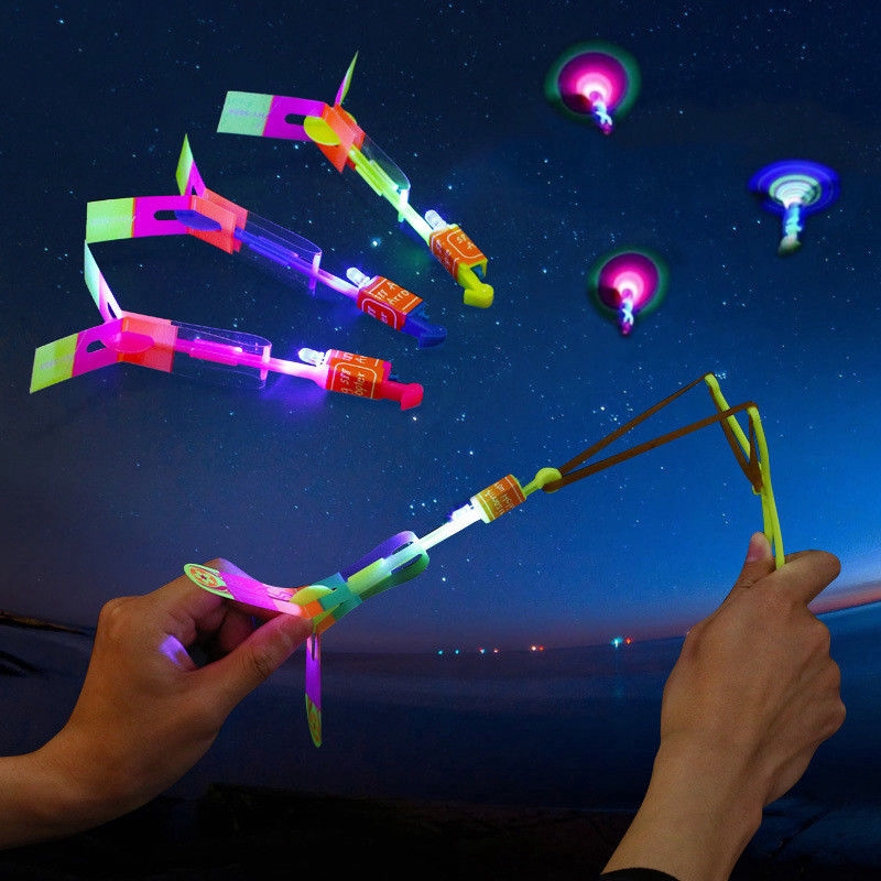 LED Light Up Flashing Dragonfly Glow Mini Helicopters For Party Toys Kids Toys