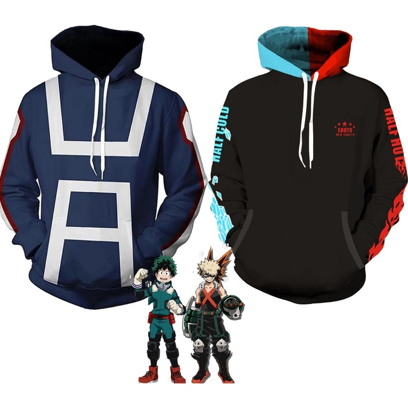 Anime My Hero Academia Todoroki Shoto Cosplay Pullover Hoodie Jacke SweatShirt