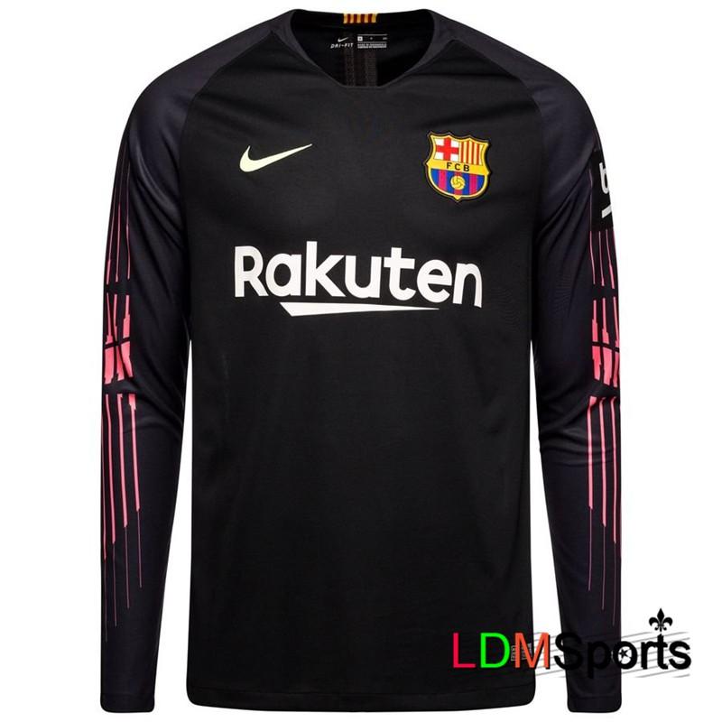 timeless design 1ccc3 1ab34 18/19 Long Sleeve Football Jersey Barcelona Goalkeeper Shirt