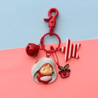 Hayao Miyazaki Studio Ghibli Ponyo in the Bucket Keychain Phone Chain PVC Toys