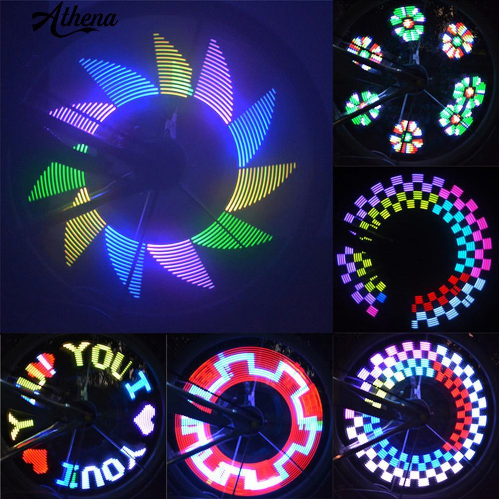 Colorful 16 LED Cycling Bicycle Bike Rim Lights LED Wheel Spoke Light Reflective