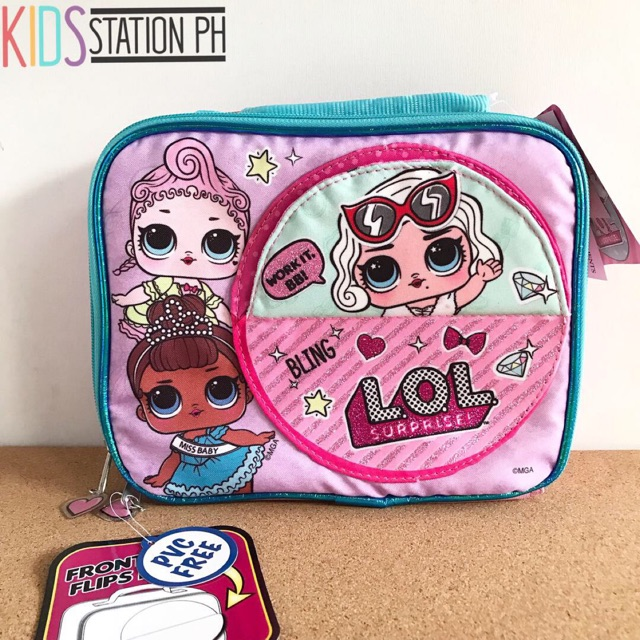 LOL Surprise Purple Teal Lunch Bag