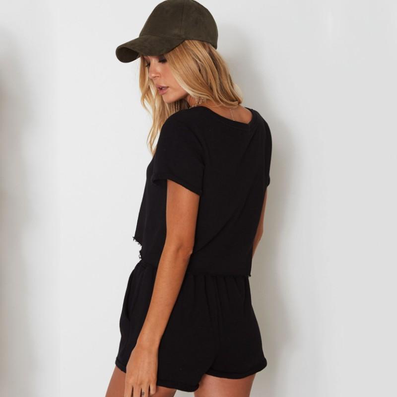 c360dcfa941 Crop Top Set Round Neck Short Sleeve Stripe Black BTS Love Yourself Suit |  Shopee Philippines