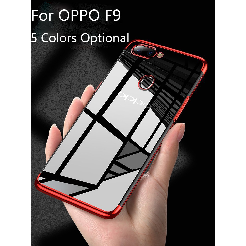 sports shoes 63b3f 91761 OPPO F9 Plating Soft TPU Case Cover Clear Back Cover