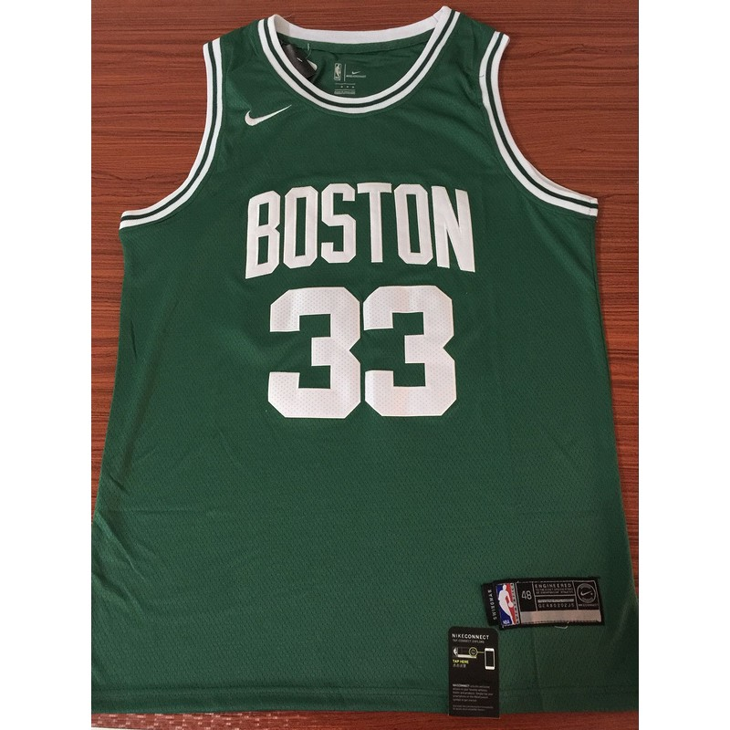 online store 9b493 e6306 yanbo Nike Boston Celtics Larry Bird NBA Jersey #33 green Classic