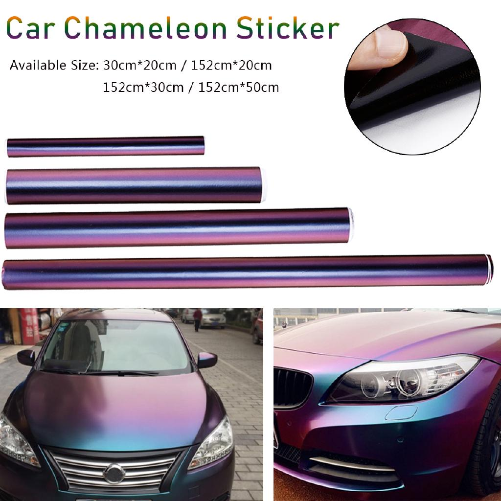 "*36/""x60/"" Matte Chameleon Color Change Purple Gold Sticker Decal Car Vinyl Wrap"
