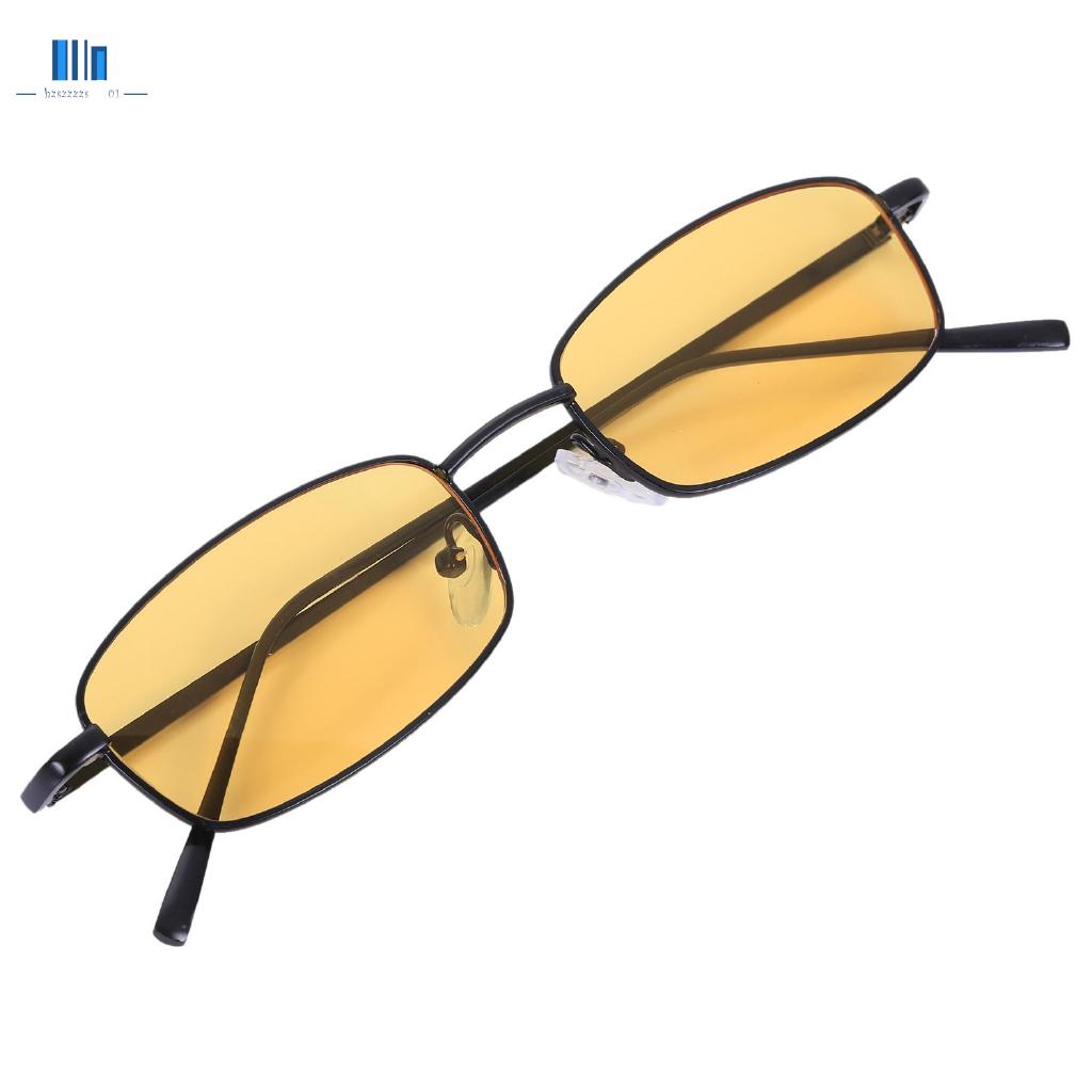 Vintage Sunglasses Women Men Rectangle Glasses Small Retro Shades Sunglasses Women S8004 Black Frame Yellow Shopee Philippines