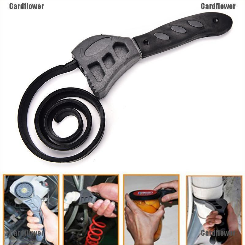 1x Universal Wrench Opener Tool Rubber Strap Adjustable Spanner Multi-Tool 500mm