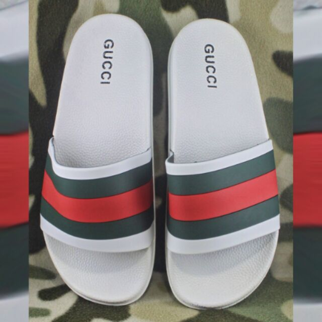 14f2c84438df6 ... Gucci Slides for Men slippers sandals - White Shopee Philippines new  cheap 12f3e d0c03 ...