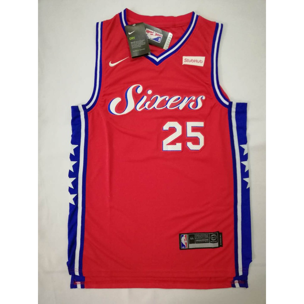 87e6f094c Nike Sixers 76ers  25 Ben Simmons Red NBA Jersey