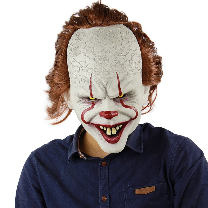Stephen King/'s It Mask Movie Pennywise Clown Mask Halloween Cosplay Costume New
