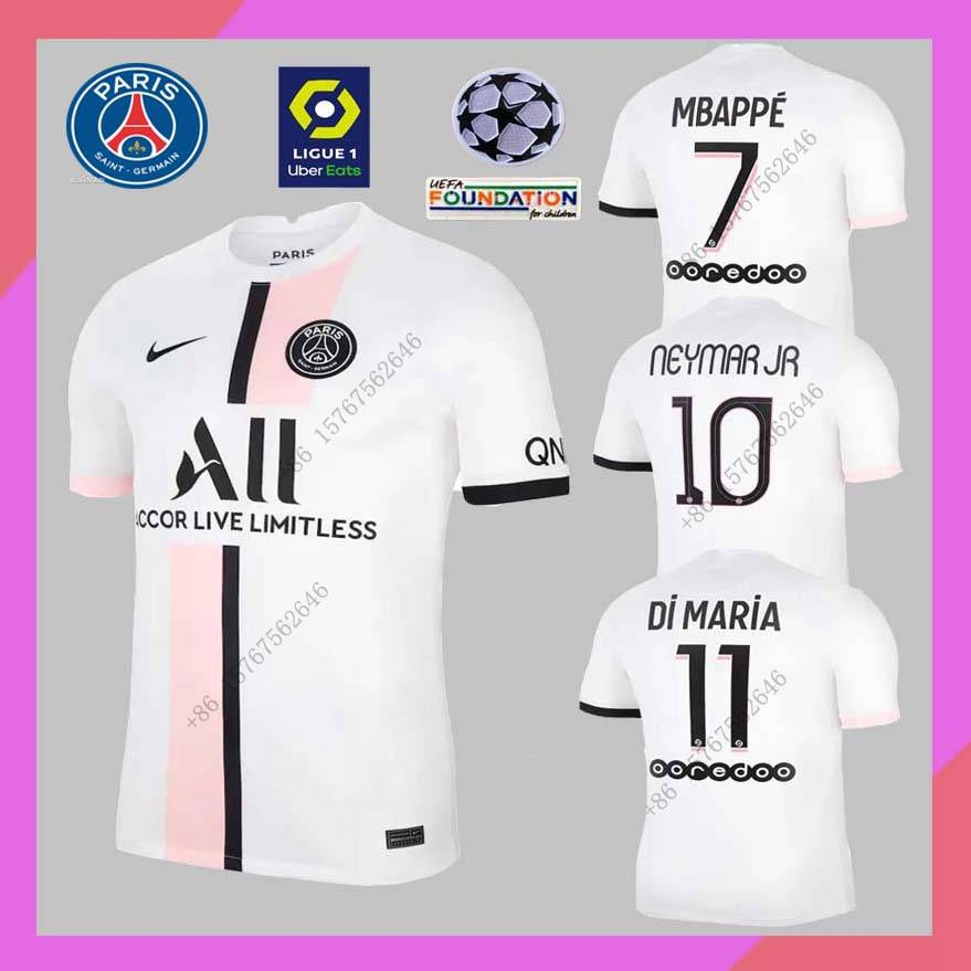 2021 22 Fans Paris Saint Germain Away Jerse Size S 4xl Shirt Football 21 22 Psg Jersey Shopee Philippines
