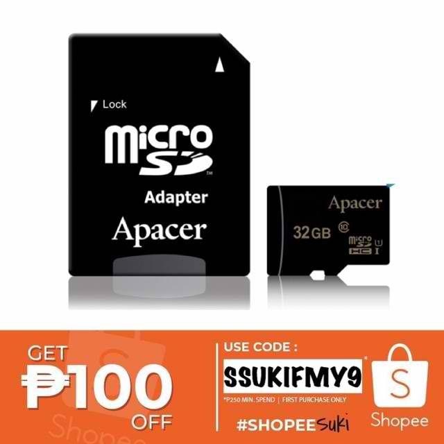 Apacer 32GB microSDXC/SDHC UHS-I U1 Class 10