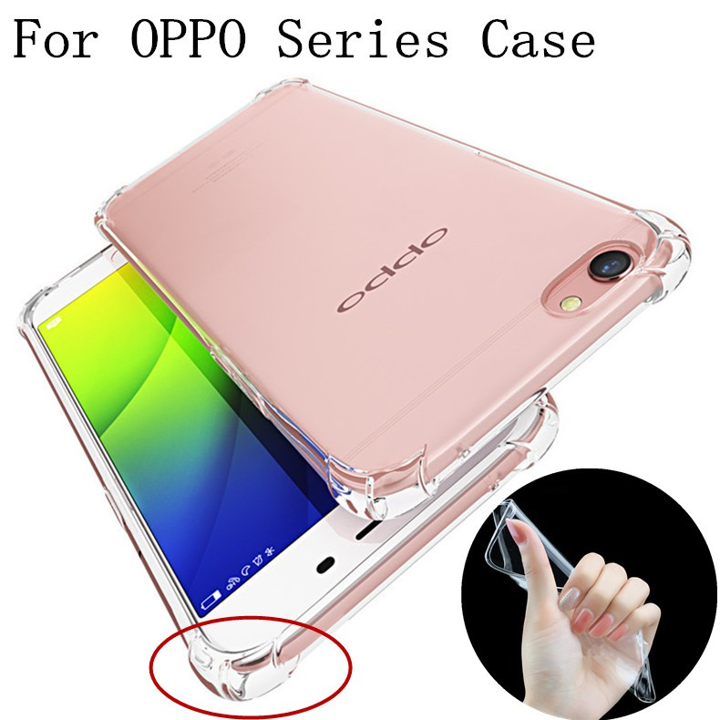 Oppo F3 / F3 Plus Case Shockproof Clear Soft TPU