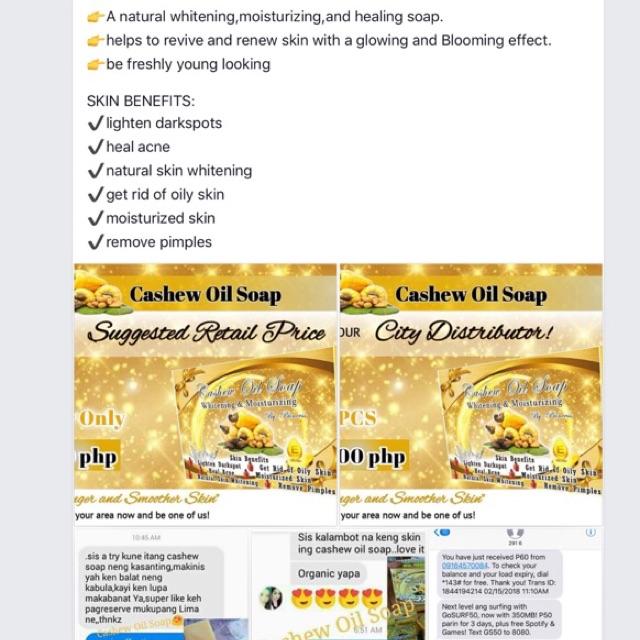 Cashew Oil Soap