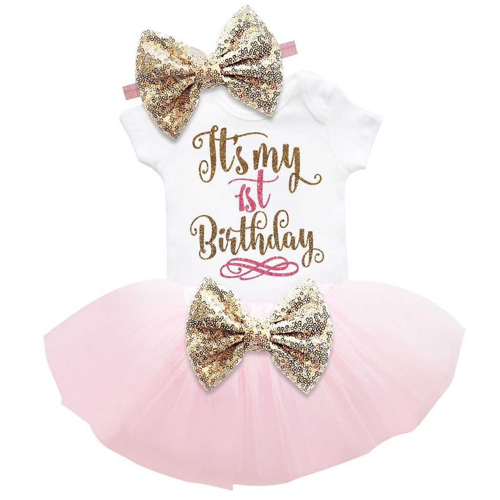 It/'s My First 1st Birthday Sets Baby Girl Tutu Cake Dress Outfit Party Clothes