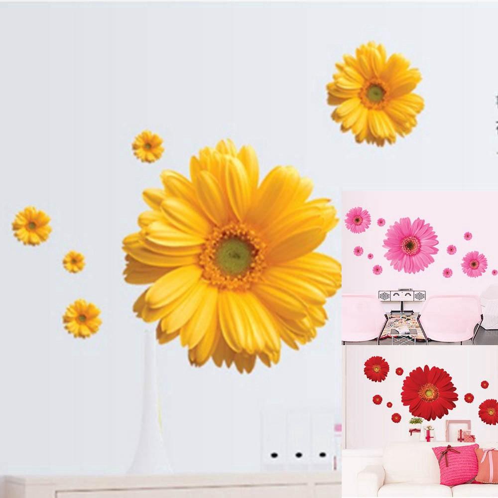FLOWERS Daisy 60pcs Decal Removable Window Door Wall Sticker Home Decor Art