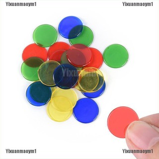 100pcs//bag PRO count bingo chips markers for bingo game cards 1.5cm *0.1cm S!