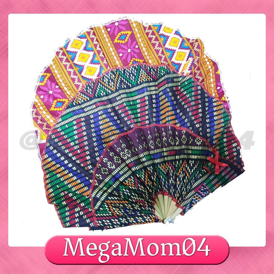Batik Foldable FAN HAT With Chin Strap