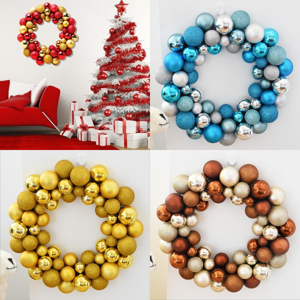 Christmas Ball Garland.Ornament Garland Balls Wreath Christmas In Stock