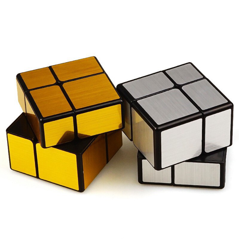 Qiyi Mirror Cube 2x2 Speed Cube Gold Silver Mirror Blocks Puzzle Toys Shopee Philippines