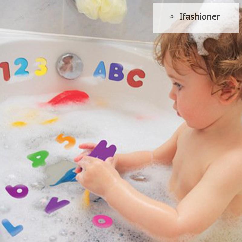 Lower Case 26 Pcs Alphabet Sponge Letters Children Kids Bath Time Fun Toys